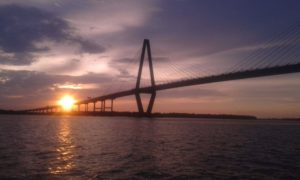 Sunset at the Ravenel Bridge