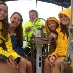 Sometimes we get caught in the rain, but still have fun! Charleston Sail Captain Paul Mitchell
